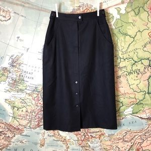 Vintage 70s High Waisted Italian Wool Skirt